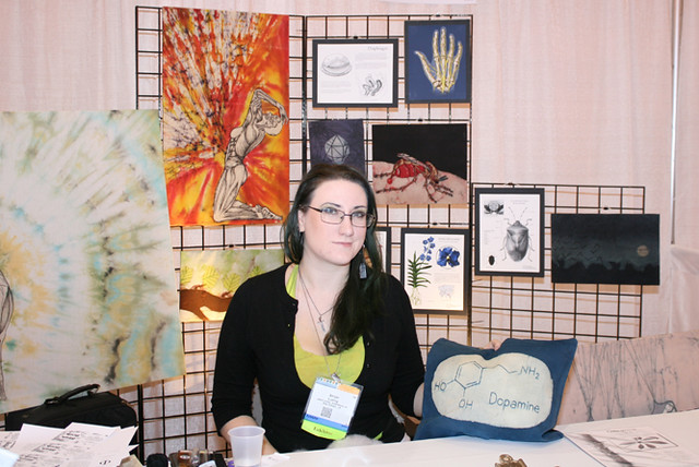 Art at the Expo booth: Biomedical art