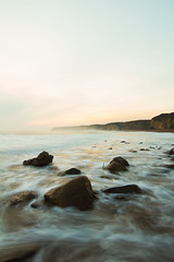 nebula (Tom Whitfield) Tags: morning sea seascape water sunrise golden rocks cleveland cliffs coastal northeast seaham canon7d