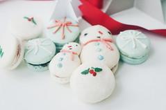 Mistletoe Macaron (Erika Low Yue Huan) Tags: christmas food love festive season dessert photography kiss sweet joy desserts professional foodporn mistletoe macarons macaron