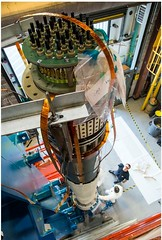 Standing tall: upgraded NSTXU center stack in upright position. (PPPLab) Tags: construction energy research physics fusion upgrade centerstack nstxu