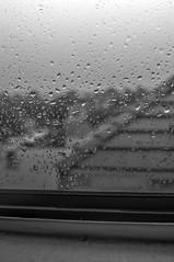 Droplets (AdrienneCredoPhotography) Tags: california county bw orange white black window rain clouds nikon southern irvine d3200
