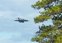 C-17 on Approach to North AF Aux Field (Reginald T. McDowell Sr.) Tags: field force air south united iii north charleston short carolina states c17 globemaster approach usaf command mobility afb auxiliary