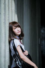 LinLin (Jimmy Chuah) Tags: school portrait girl beauty lady model singapore uniform taiwanese 2014 linlin marinabarrage