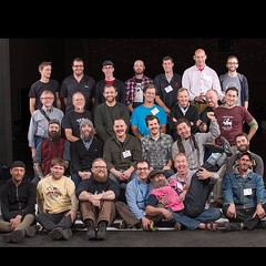 The Frame Builders group photo from the @phillybikeexpo (Photo by Jack Ramsdale) So much talent in this photo!