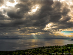 A glimpse of sky... (Nick Papakonstantinou) Tags: sea sun clouds reflections greece sunrays hdr pelion sonydscf828 volos thessalia magnesia pagaseticgulf