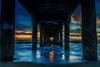 Manhattan Beach Pier at sunset (tshyres) Tags: ocean sunset sky orange beach landscape real la pier manhattan sunsets socal manhattanbeach manhattanpier