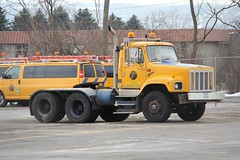 NYSDOT S Series Set back axle tractor (RyanP77) Tags: white snow ny burlington truck star town dump upstate s bulldog international western granite series plow mack fwd rd oshkosh snowplow snowblower rm snogo plower frieghtliner nysdot townofdeerfieldny