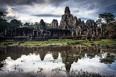 Reflections of the Past (Trent's Pics) Tags: reflection reflections temple ruins cambodia faces smiles monastery siemreap thebayon bayon angkorthom khmersmile