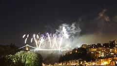 Clifton Suspension Bridge 150th Anniversary (mesmoland) Tags: show bridge bristol suspension display fireworks anniversary clifton pyrotechnics 1864 150th mesmoland