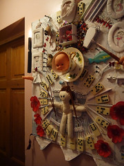 Experimenting for Shrine Project 91 (The People In My Head) Tags: shrine altar nails teacup mdf assemblageart dollshead lizjamesart lizfroudartthepeopleinmyhead
