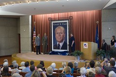 "Dick Ford, Mike Ford and Rosa Fulton unveil Gerald R. Ford Commemorative Postage Stamp • <a style=""font-size:0.8em;"" href=""http://www.flickr.com/photos/55149102@N08/15964789556/"" target=""_blank"">View on Flickr</a>"