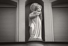 Madonna with Jesus (AVie Fotografy) Tags: bw white black statue germany bayern deutschland bavaria europa europe fotografie edited sony madonna jesus figure buy sw alpha franken 230 purchase wurzburg s