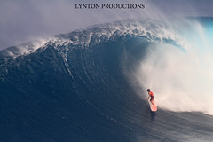 Tyler Larronde admires Jaws' lip (Aaron Lynton) Tags: surf wave surfing jaws peahi bigwave lyntonproductions