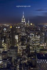 Empire State desde Top of the Rock - II - Manhattan - New York (www.capturaviaje.com) Tags: nyc newyork skyscraper canon manhattan nocturna empirestate tor topoftherock estadosunidos nuevayork rascacielos grimaldi eeuu ef1740mmf4lusm 5dmarkiii dgrimaldi 5dmiii davidgrimaldi