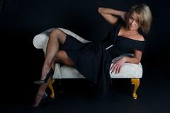 Anusia (Jigsaw-Photography-UK) Tags: portrait white black studio belt model chair dress sofa jpproductionsuk