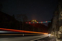 Ruine Ehrenberg mit der Highline 179 (stefanhuber92) Tags: street bridge sky lightpainting stars austria tirol europe ruin himmel ruine longest brücke burg highline worldrecord ehrenberg strase reutte highline179