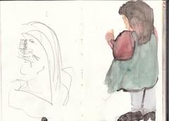 Mädchen aus Wien (raumoberbayern) Tags: vienna wien girl watercolor painting topv1111 sketchbook mädchen aquarell robbbilder malerei skizzenbuch