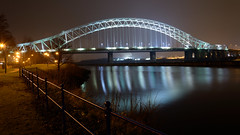 In My Home Town (Mortarman101) Tags: winter cold night cheshire mersey runcorn widnes floodlights halton manchestershipcanal runcornbridge silverjubileebridge