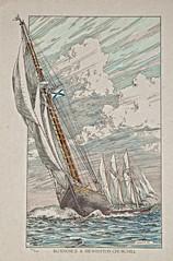 Bluenose II & Sir Winston Churchill (cjh44) Tags: ontario print ships kingston lakeontario tallships lithograph august1984