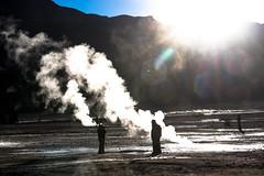 El Tatio geysers, Atacama, Chile (kiwi vic) Tags: chile travel sunrise desert altitude atacama geothermal eltatio geysers