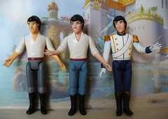 Eric mini dolls different outfits and painting (redmermaidwerewolf) Tags: pink blue wedding castle ariel toy boat store eric doll moments dress little magic tail small mini disney tiny figure mermaid bridal magical playset erics the