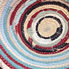 "Another patchwork basket is in the works. • <a style=""font-size:0.8em;"" href=""https://www.flickr.com/photos/54958436@N05/16319560005/"" target=""_blank"">View on Flickr</a>"