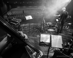 Tech Rehearsal (Jeff Addicott) Tags: bw fog canon theater stage livemusic onstage auditorium 1122 eosm efm1122mm
