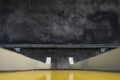 Five stories' height (K.rar) Tags: brazil white reflection feet sol yellow jaune dark concrete foot grey gris hotel bresil saopaulo ground reflet sombre paulo pied sao pieds blanc height macadam hauteur anhembi