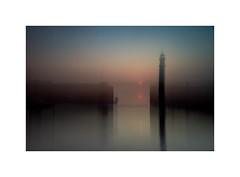 Newhaven Sunset (muriel_binnie) Tags: sunset blur scotland edinburgh harbour newhaven icm flou 2016 intentionalcameramovement