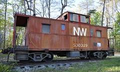 Altavista, Virginia (1 of 2) (Bob McGilvray Jr.) Tags: railroad red train private virginia nw display steel tracks caboose va cupola static altavista norfolkwestern virginian vgn