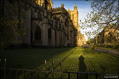 Morning shadow (zolaczakl ( 2 million views, thanks everyone)) Tags: uk england southwest fence bristol shadows lightshadow bristolcathedral cityscenes collegegreen earlymorninglight nikond7100 photographybyjeremyfennell sigma1835mmf18dchsmlens