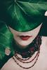 *** (LEAF - 葉) Tags: red girl leaf superphotographer stealingshadows