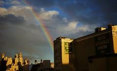 UWS Rainbow (Kociuszko) Tags: nyc newyorkcity roof sky newyork rooftop nature skyline lights rainbow rooftops upperwestside sunshower uws roygbiv beresford the potofgold nycfeelings nypostnyc sofiastorage