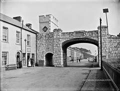 Post Office, Carnlough, Co. Antrim (National Library of Ireland on The Commons) Tags: clock postoffice clocktower viaduct northernireland ulster countyantrim carnlough glassnegative 0900 harbourroad robertfrench williamlawrence nationallibraryofireland marchionessoflondonderry mineralrailwayline lawrencecollection marquisoflondonderry mcsparron lawrencephotographicstudio thelawrencephotographcollection johnmcsparron temperancerestaurant marymcsparron