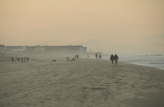Mist Walkers (Cocoabiscuit) Tags: ocean beach evening olympus shore delaware bethanybeach em5 cocoabiscuit