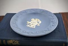 Wedgwood Cupid Plate (Lo & Co Vintage) Tags: blue england white angel vintage dish antique plate cherub british cupid etsy wedgwood madeinengland locovintage loandcovintage