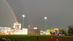 Rainbows over Thunder Stadium (Tim Loesch) Tags: newjersey nj rainbows doublerainbow mercercounty trenton minorleaguebaseball trentonthunder