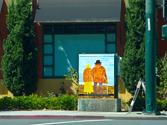 "photo - ""The Elderly"" (Jassy-50) Tags: california street people streetart art photo artwork elderly publicart walnutcreek utilitybox theelderly trafficlightcontrolbox"