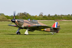Hurricane (Bernie Condon) Tags: uk classic plane vintage flying fighter beds aircraft aviation military hurricane airshow planes ww2 preserved shuttleworth raf hawker warplane battleofbritain airdisplay 2016 oldwarden fightercommand