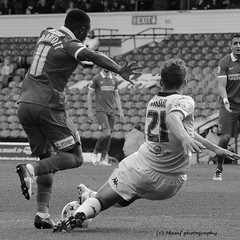 Charlie Taylor tackle v Charlton athletic. (MAMF photography.) Tags: uk greatbritain england people blackandwhite bw monochrome beauty photo blackwhite football google nikon flickr noir image noiretblanc unitedkingdom britain soccer yorkshire negro north leeds gb upnorth pretoebranco schwarz biancoenero westyorkshire leedsunited greatphoto googleimages ellandroad northernengland charltonathletic enblancoynegro greatphotographers mamf inbiancoenero charlietaylor schwarzundweis nikond7100 mamfphotography