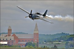 Warbird Over St Vincent (Images by A.J.) Tags: show county classic vintage airport fighter cloudy pennsylvania aviation military air wwii arnold navy palmer airshow pa wildcat naval carrier regional fm2 westmoreland latrobe aircradt