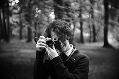 Leica chap (thomas.drezet) Tags: park camera leica portrait white black water rain contrast forest 35mm lens photo high fuji photographer bokeh cctv dreamy fujian swirly f17