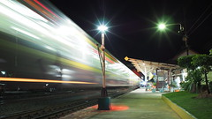 krasang station night train (Matt Jones (Krasang)) Tags: composite long exposure voigtlander olympus f56 mode nokton mkii f095 175mm olympusomdem5