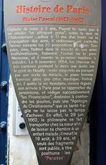 Blaise Pascal plaque panneau - 54 rue Monsieur le Prince, Paris (Monceau) Tags: paris plaque pascal panneau histoiredeparis 6tharr blaisepascal 54ruemonsieurleprince