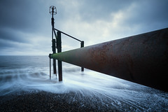 Weybourne  - 28/05/2016 (Matthew Dartford) Tags: ocean longexposure morning sea beach landscape coast sand moody bokeh norfolk central wide shingle wideangle coastal defences eastanglia groynes wayborne