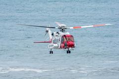 Coastguard (Aaron Miller Photo) Tags: red sea coastguard rescue white coast nikon yorkshire north guard wing helicopter coastline blades copter heli urgent flamborough d7100