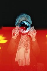 night (Gaia Baldassarri) Tags: film night analog 35mm dark mirror kodak magic diary flash burn imagination granny stories gaia baldassarri gaiabaldassarri asortofdiary