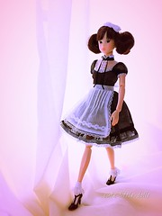 """""""So nice to be out of box!"""" ;-) (cute-little-dolls) Tags: walking toy doll kawaii ae chinatsu petworks momokodoll specialtoybox"""
