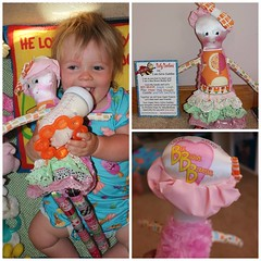 Meet one of our sweet receipients of our Catie Cuddles, Bee Brave Buddies doll for children with cancer (rosanna hope) Tags: beebravebuddies beautifullybalddolls dolls for children with cancer childhoodcancer dollsforcancer softplusdolls spoonflower satinfabric printed usa by madeinusa brave hopedoll balddolls giftsforchildrenwithcancer hospitalgiftscancer leukemia retinoblastoma