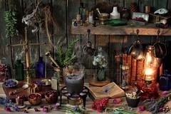 Herbalist's Workshop (memoryweaver) Tags: bronze herbs dry mortar druid dried apothecary herbal incense pagan drying blend wiccan druidry driedflowers pestle herbalist obod memoryweaver